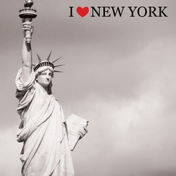I Heart New York: Statue of Liberty 12 x 12 Paper