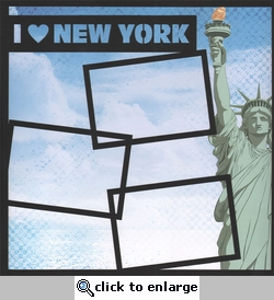 I Love New York 12 x 12 Overlay Quick Page Laser Die Cut