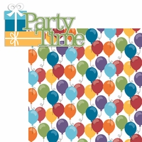 Ice Cream & Cake:Party Time 2 Piece Laser Die Cut Kit