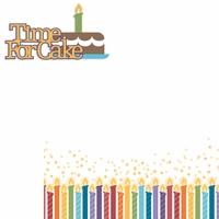 Ice Cream & Cake: Time For Cake 2 Piece Laser Die Cut Kit