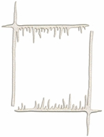 Icicle Corner Laser Die Cut (2 pack)