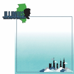 2SYT Illinois: IL Land of Lincoln  2 Piece Laser Die Cut Kit