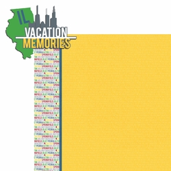 2SYT Illinois: IL Vacation Memories  2 Piece Laser Die Cut Kit