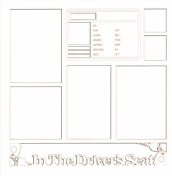 2SYT In The Driver's Seat 12 x 12 Overlay Laser Die Cut