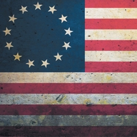 Independence: 13 Star Flag 12 x 12 Paper
