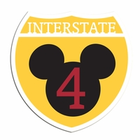 Interstate 4 mouse Laser Die Cut