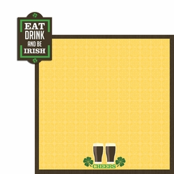 Ireland: Eat, Drink be Irish 2 Piece Laser Die Cut Kit