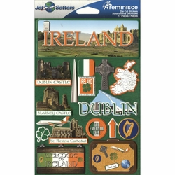Ireland Jet Setters Dimensional Stickers