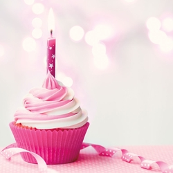 It's your Birthday: Pink Cupcake 12 x 12 Paper
