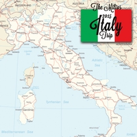 Italian Adventures Vacation Custom 12 x 12 Paper
