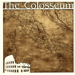 Italian Memories: The Colosseum 2 Piece Overlay Quick Page Laser Die Cut Kit