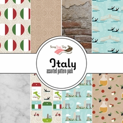 Italy Assorted 12 x 12 Paper Pack