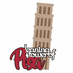 Italy: Leaning Tower Laser Die Cut