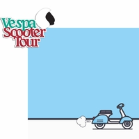 Italy: Vespa Scooter Tour 2 Piece Laser Die Cut Kit