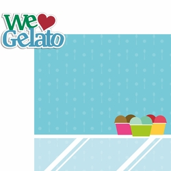 Italy: We Heart Gelato 2 Piece Laser Die Cut Kit