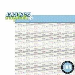January: Snapshots 2 Piece Laser Die Cut Kit