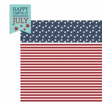 July: Happy 4th 2 Piece Laser Die Cut Kit