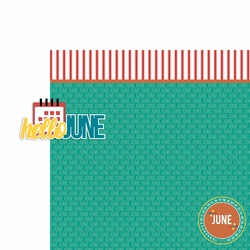 June: Hello June 2 Piece Laser Die Cut Kit