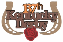 Kentucky Derby Laser Die Cut