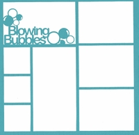 Kids:Blowing Bubbles 12 x 12 Overlay Laser Die Cut