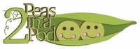 Kids: Two Peas In A Pod Laser Die Cut