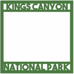 Kings Canyon National Park Overlay Laser Die Cut