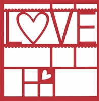 L-Heart-VE 12 x 12 Overlay Laser Die Cut