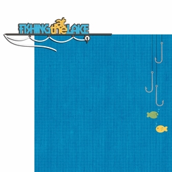 Lake Life: Fishing At The Lake 2 Piece Laser Die Cut Kit