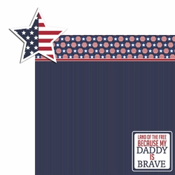 2SYT Land of Free: Brave Daddy 2 Piece Laser Die Cut Kit