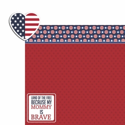 2SYT Land of Free: Brave Mommy 2 Piece Laser Die Cut Kit