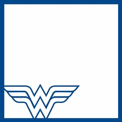 2SYT League of Justice: Wonder Woman 12 x 12 Overlay Laser Die Cut