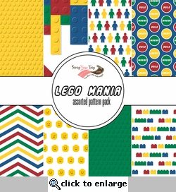 Lego Assorted 12 x 12 Paper Pack