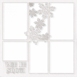 Let It Snow 12 x 12 Overlay Glitter Laser Die Cut