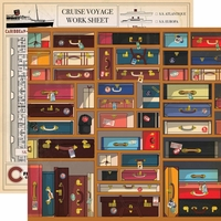 Let's Cruise: Baggage 12 x 12 Double-Sided Cardstock