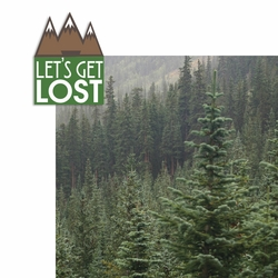 Let's Get Lost 2 Piece Laser Die Cut Kit