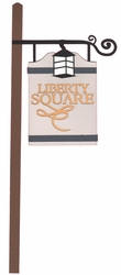 Liberty Square: Liberty Square Sign Laser Die Cut