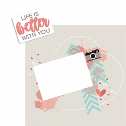 Life is Better 2 Piece Laser Die Cut Kit