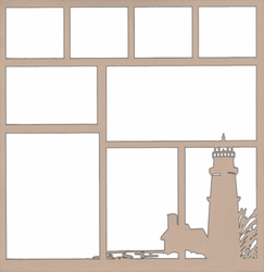 Lighthouse Corner 12 x 12 Overlay Laser Die Cut