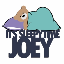 Lights Out: Custom Sleepytime Bear Laser Die Cut
