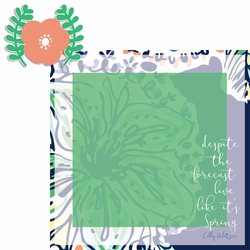 Lily: Spring 2 Piece Laser Die Cut Kit