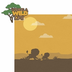 Lion: Wild Day 2 Piece Laser Die Cut Kit