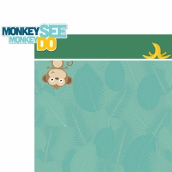 2SYT Little Monkey: Monkey See Monkey Do 2 Piece Laser Die Cut Kit