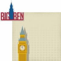 London: Big Ben 2 Piece Laser Die Cut Kit