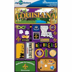 Louisiana Jet Setters Dimensional Stickers