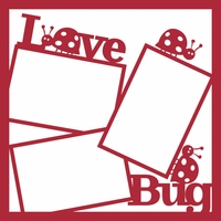 Love Bug 12 x 12 Overlay Laser Die Cut