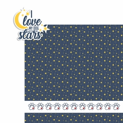Love dog to the stars 2 Piece Laser Die Cut Kit