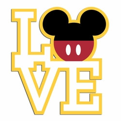 Love Mouse Style: Mickey Laser Die Cut