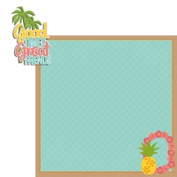 Luau: Good Times Great Friends 2 Piece Laser Die Cut Kit