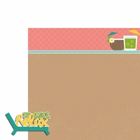 Luau: Sit Back 2 Piece Laser Die Cut Kit