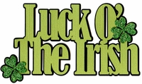 Luck O` The Irish Glitter Laser Die Cut